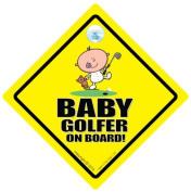 Baby Golfer Car Sign, Baby Golf, Car Sign, Baby On Board Sign, baby on board, Novelty Car Sign, Baby Car Sign, Golf Car Sign