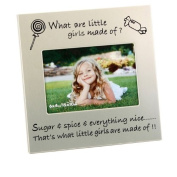 What Little Girls Are Made Of ... New Baby Photo Frame, gift