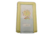 BABY CHANGING MAT PATCH the LION - LEMON COLOURS - UNISEX - ZOO or JUNGLE theme - LUXURY PADDED & WATERPROOF