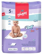 BELLA 60 X 60 CM DISPOSABLE BEDSHEETS BABY DISPOSABLE UNDERPADS CHANGING MATS 5 PCS