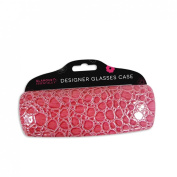 Glamour Essentials Designer Hard Glasses Case for Ladies High Protection for Spectacles in Pink