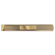 Hard Gold plated 6x55mm Centre space Engine turned Tie Slide