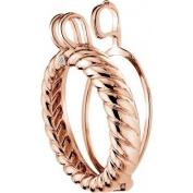 Emozioni Sorrento Rose Gold Plated Sterling Silver Keeper of 33mm DP482