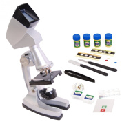 DynaSun TMPZ-C1200 Advanced Science Student Set Educational Microscope Mag:1200x with Projector Hood Complete Kit with many Accessories