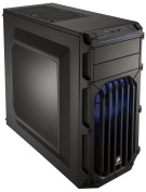 Corsair CC-9011058-WW Carbide Series SPEC-03 Windowed Mid Tower ATX Gaming Case with LED Fan - Black/Blue