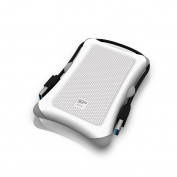 Silicon Power 1TB Rugged Armour A30 Shockproof 6.4cm USB 3.0 External Portable Hard Drive, Military Grade MIL-STD-810G, White