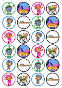 Team Umizoomi Edible Wafer Rice Paper 24 x 4.5cm Cupcake Toppers/Decorations