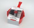 Microwave Saucepan with Lid 0.6lt RED