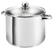 Kopf Gigant Large Cooking Pot with Glass Lid / Capacity 12.5 L / Suitable for Induction Hobs and Dishwashers / Stainless Steel / Diameter 28 cm