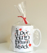 I Love You To The Moon & Back Ceramic Valentines Day Gift Mug