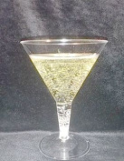 Finishes Touches Party Store - 12 Disposable Plastic Martini Cocktail Glasses