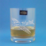 Bohemia Crystal Whisky Tumbler With Spitfire Design Presented In Gift Box