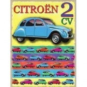 FRENCH VINTAGE METAL SIGN 20X15cm RETRO AD CITROEN 2CV CAR France 2