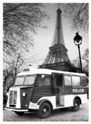 FRENCH VINTAGE METAL SIGN 40x30cm RETRO AD CITROEN TYPE H VAN POLICE 1963