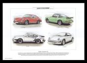 Classic Porsche 911 Sports Cars - Touring, Targa, Turbo, Carrera - Art Print