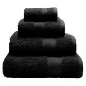 Catherine Lansfield Home 100% Cotton 450gsm 4 Piece Guest Towel Set, Black