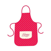 Anika 83 x 68 cm Apron with Pockets, Cream/ Red