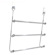 chrome plated over door 3 tier tower rail