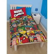Marvel Comics Kids Defenders Reversible Single Duvet Cover Bedding Set (Single Bed)