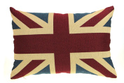 Union Jack Filled Cushion, Luxury Tapestry Cushions, 30cm x 45cm