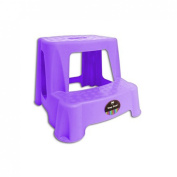 """Brights"" Large Sturdy Plastic Double Step Stool Perfect for Home & Outdoor Use"