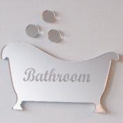 Bath & Three Bubbles Mirror 12cm x 8cm
