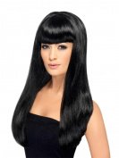 Smiffy's Babelicious Wig Long Straight with Fringe