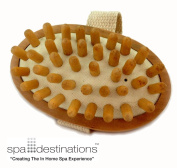"""Cellulite Massage & Circulation Brush by Spa Destinations® """"Creating The In Home Spa Experience"""" Best Quality! Best Value!"""