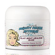 Facial Mask-Clay Mint Healing Mask and body muds are treatments that help with clearing acne for the face, neck, and decollete. Take care of your skin and look your best day and night!
