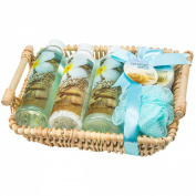 Oceanside Breeze Bath Spa Gift Set Woven Basket