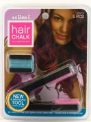 Scunci Non Permanent Hair Chalk - Pink & Green Chalk Plus Applicator