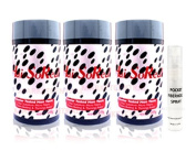 3 x HSR, Hair So Real, Hair Loss Concealer Fibre (Light Brown) with Free Pocket Fiberhold Spray