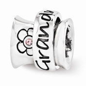 Sterling Silver Reflections. Grandmother Spinner Bead