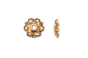 Infinity Circle Antique-Gold Finished Bead Cap 11x2mm sold per pack of 20