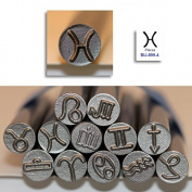 Kent 9.0mm PISCES Zodiac Symbol Metal Punch Stamps, Sold Individually