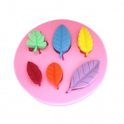 Six Leaves Candy Jello 3d Silicone Mould Figre/cake Tools Soap Mould Sugar Craft Cake Decoration