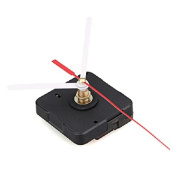 Ecloud ShopUS 2 pieces Clock Movement Mechanism with White Hour Minute Red Second Hand