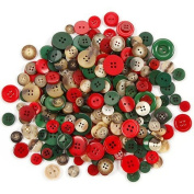 Assorted Christmas Buttons