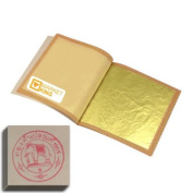Edible Gold Leaf Sheets 30pc M-size 24 Karat 3cm X 3cm Genuine for Cooking, Cakes & Chocolates, Decoration, Health & Spa