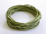 PEA GREEN 3mm x 1.5mm Faux Suede Cord Leather Lace Bracelet Necklace Making