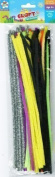 100pk Multi Coloured Pipe Cleaners 30cm x 6mm