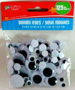 Crafter's Square - Googly Eyes - 125 pack - Assorted Sizes - Brand New - Factory Sealed and Ships Within 24 Houurs