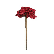 CWI Gifts Burlap Hydrangea Pick, 36cm , Red