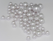 75 Jumbo Pearls Decorative Vase Filler Assorted Sizes for Wedding Centrepiece - WHITE