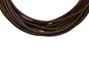 Full-grain leather cord, 1.5mm round brown 5 yard