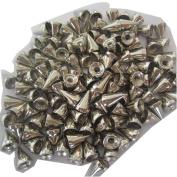 Tangpan 100pcs Bullet Cone Punk Spikes Screwback Metal Studs DIY Leathercraft Rivet