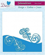 Embossalicious Embossing Folder 6 x 6 Deco Swirl