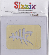 Sizzix 38-9794 Chinese Character Long Life Simple Impressions Embossing Folder Brass Stencil