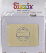 Sizzix 38-9813 Postmark Simple Impressions Embossing Folder Brass Stencil