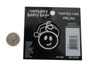 Baby Boy - Loverly Christmas Holiday Family Car Window Vinyl Decal Sticker